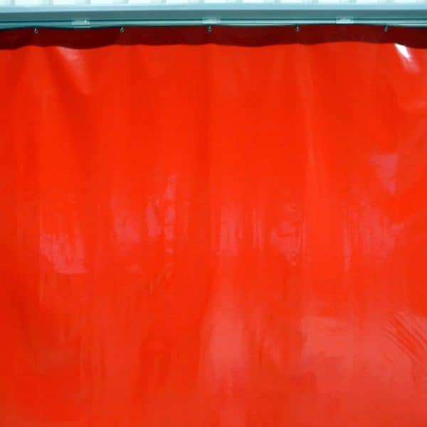 Industrievorhang Rot
