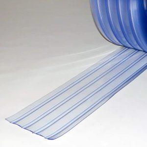 PVC Streifen Meterware Doppelt Gerippt 200 mm x 2 mm