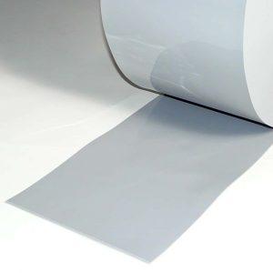 PVC Streifen Meterware Grau 200 mm x 2 mm