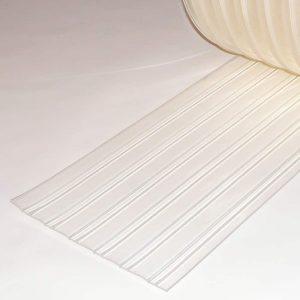 PVC Streifen Meterware Tiefkühlung Gerippt 300 mm x 3 mm