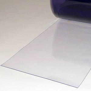 PVC Streifen Meterware Transparent 400 mm x 2 mm