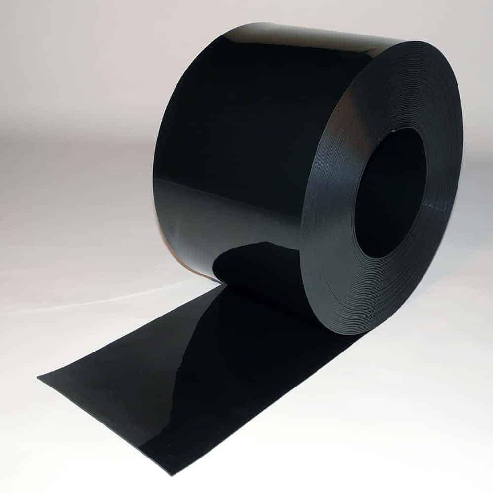 pvc streifen rollenware schwarz 50 m x 300 x 3 mm. Black Bedroom Furniture Sets. Home Design Ideas