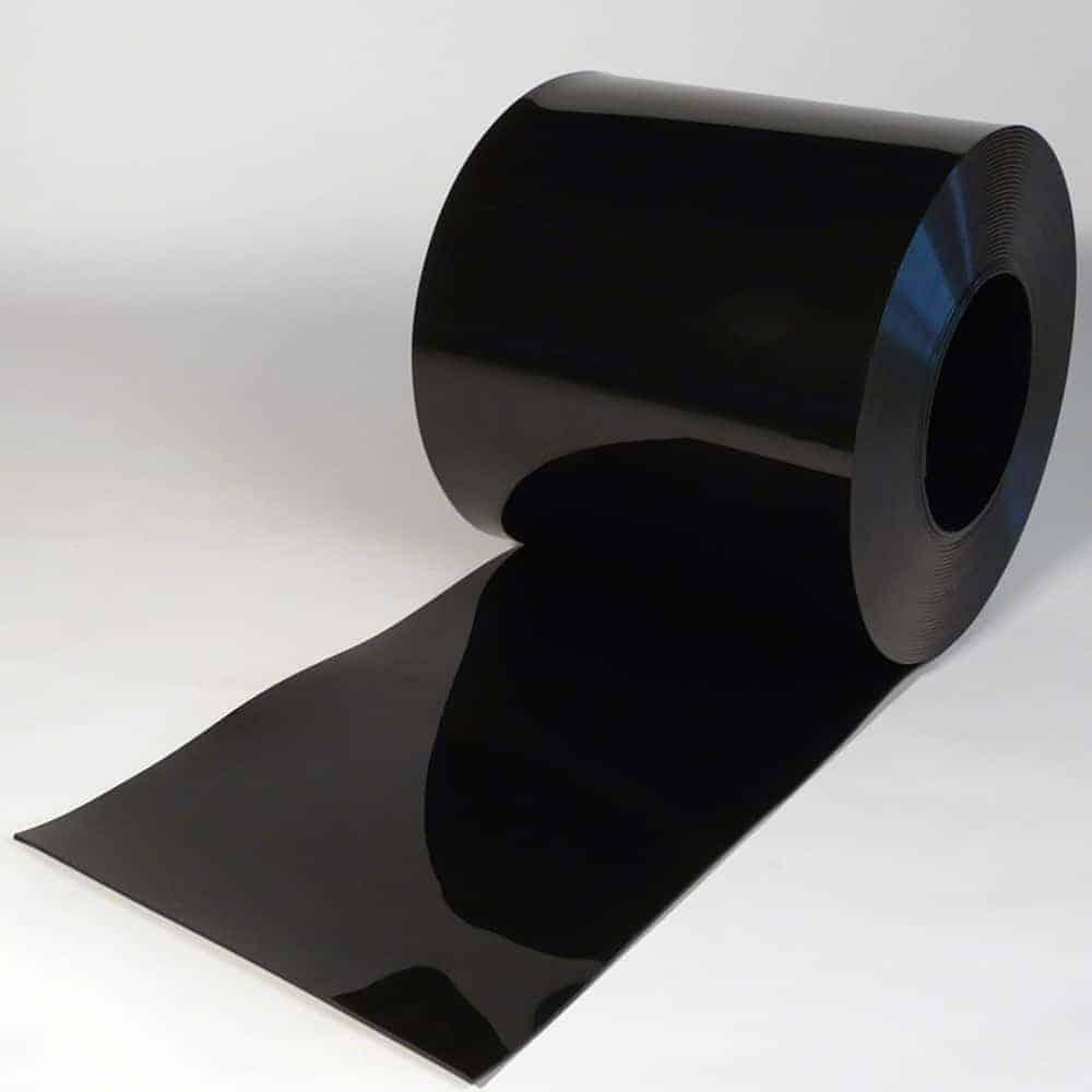 pvc streifen rollenware schwarz 50 m x 400 x 4 mm. Black Bedroom Furniture Sets. Home Design Ideas