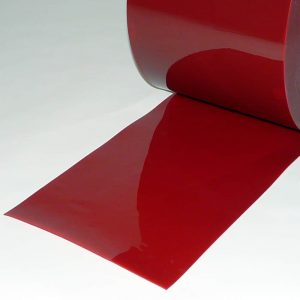 Schweisserschutzlamellen Rot Meter 300 mm 2 mm