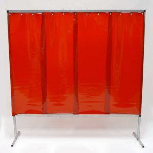 Schweisserschutzwand-Lamel 570 Rot 200 cm 200 cm