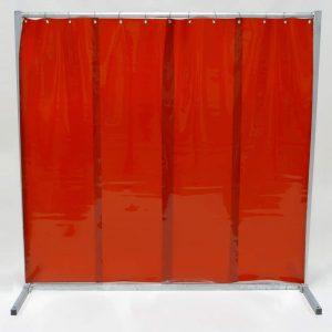 Schweisserschutzwand-Lamel 570 Rot 210 cm 200 cm