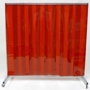 Schweisserschutzwand Lamellen Rot 210 cm 200 cm