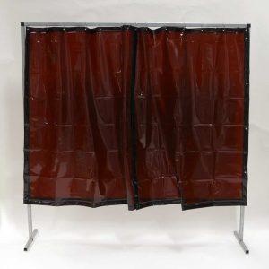Schweisserschutzwand Vorhang Bronze 200 cm 200 cm