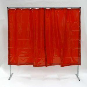 Mehr über Schweisserschutzwand Vorhang Rot 200 cm 200 cm