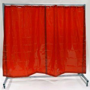 Mehr über Schweisserschutzwand Vorhang Rot 210 cm 200 cm