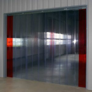 Streifenvorhang Doppelt Gerippt Transparent nach Maß