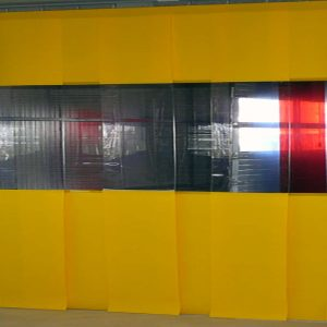 Streifenvorhang Gelb Combo nach Maß