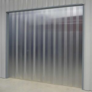 Streifenvorhang Mattiert Transparent nach Maß