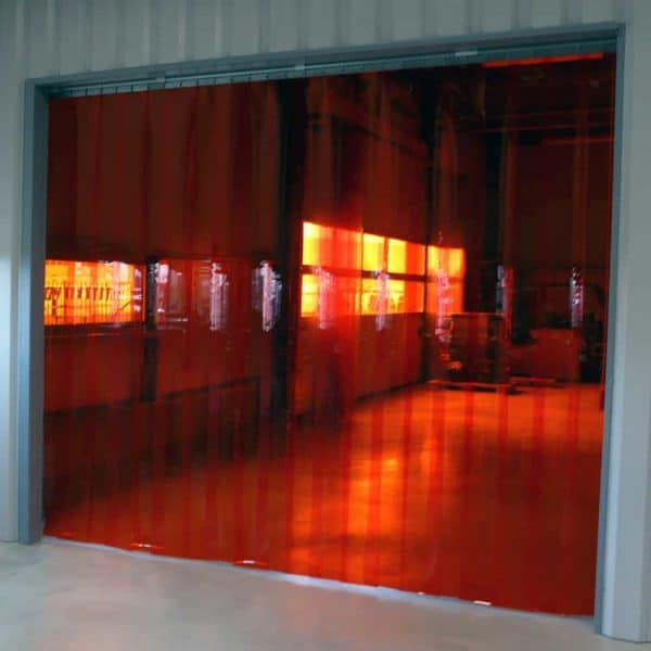 Streifenvorhang Rot Transparent nach Maß