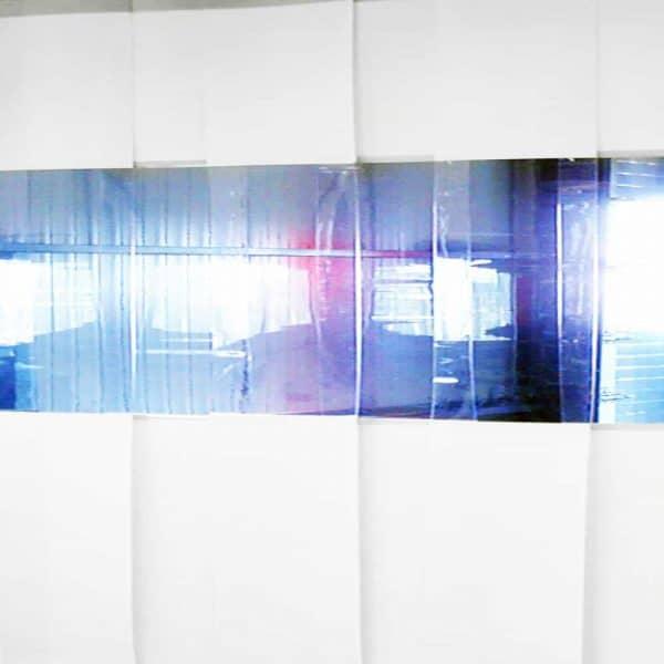 Streifenvorhang Weiß Combo